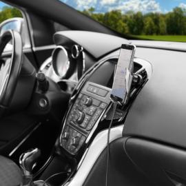 Autós telefontartó, vezeték nélküli töltéssel