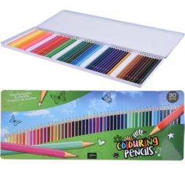 Artist 50 db-os színes ceruza készlet, fém dobozban