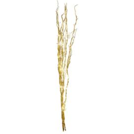 24 LED-es világító arany sakura fűzfa ágak, 75 cm magas - meleg fehér