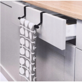 Praktikus fém akasztó ajtóra, szekrényre konyharuhának, törölközőnek 36,5 cm