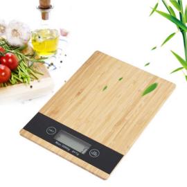 Excellent Houseware Bambusz digitális konyhai mérleg