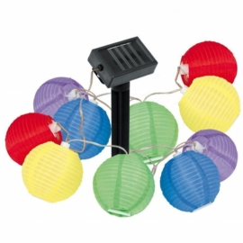 Napelemes party lampion Led fényfüzér, 2,7 m