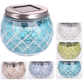 Mozaik Asztali Napelemes LED lámpa, 1 db