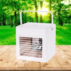 AirCooler USB-s asztali ventilátor, léghűtő és párásító, 260 ml tartály, 5W