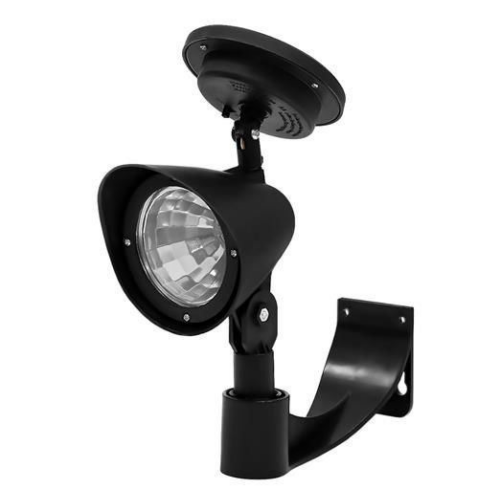 Napelemes fali LED lámpa, fekete