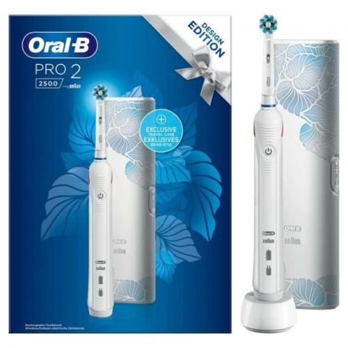 Oral-B Pro 2 2500 White Design Edition elektromos fogkefe
