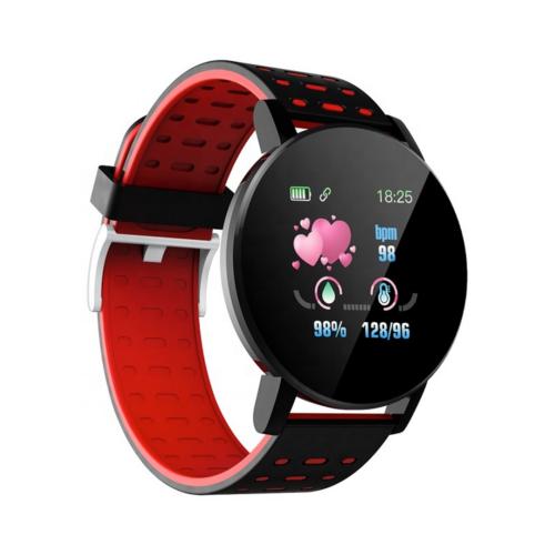 119 Plus okosóra vérnyomásmérő funkcióval - piros
