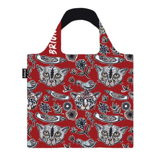 Briony újrahasznosított bevásárló táska - piros