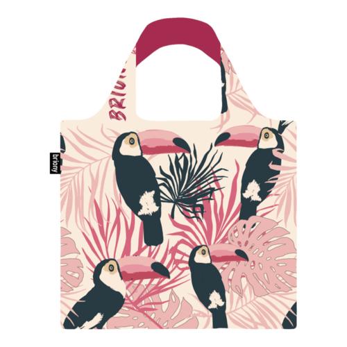 Briony újrahasznosított bevásárló táska - madaras