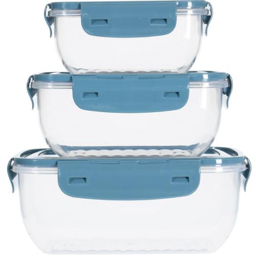 3 db-os mikrózható műanyag ételtároló doboz szett