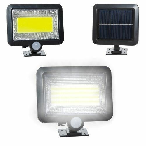 100 LED-es napelemes reflektor, mozgásérzékelővel, 260LM 5500-6000K