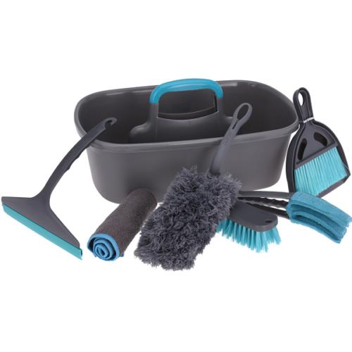 Ultra Clean 7 részes takarító készlet, praktikus vödörben