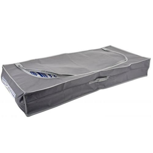 Nagyméretű Ágyneműtartó zsák, 105 x 45 x 16 cm, szürke