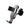 Kép 1/4 - Baseus Metal Age autós telefontartó szellőzőrácsra - Ezüst
