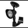 Kép 1/4 - Napelemes fali LED lámpa, fekete