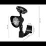 Kép 4/4 - Napelemes fali LED lámpa, fekete