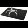 Kép 6/7 - Padlóvédő PVC, 100x70 cm fekete színben