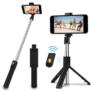 Kép 1/2 - Prémium selfie bot, 19 - 70 cm, 270°-ban forgatható, exponáló gombbal, bluetooth-os, v4.0, tripod állvány funkció, fekete