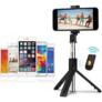 Kép 2/2 - Prémium selfie bot, 19 - 70 cm, 270°-ban forgatható, exponáló gombbal, bluetooth-os, v4.0, tripod állvány funkció, fekete