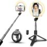 Kép 1/3 - Prémium bluetooth selfie bot világítással