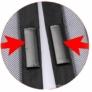 Kép 3/4 - 2 db mágneses szúnyogháló, poloskaháló 210 x 100 cm, fekete