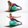 Kép 1/4 - QLife Yoga fitneszlabda, gimnasztikai labda pumpával, 65 cm, zöldes-kék