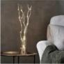 Kép 1/6 - 12 LED-es világító sakura fűzfa ágak, 40 cm - fehér