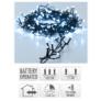 Kép 5/5 - 192 LED-es  kültéri-beltéri elemes dekor fényfüzér, hideg fehér, 14 m