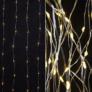 Kép 4/6 - 100 micro LED-es kültéri-beltéri fényfüggöny, hálózati adapteres, meleg fehér