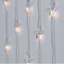 Kép 6/7 - 50 LED-es csillag fényfüggöny, hálózati adapteres, meleg fehér
