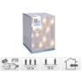 Kép 7/7 - 50 LED-es csillag fényfüggöny, hálózati adapteres, meleg fehér