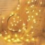 Kép 4/7 - 50 LED-es csillag fényfüggöny, hálózati adapteres, meleg fehér