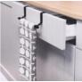 Kép 1/6 - Praktikus fém akasztó ajtóra, szekrényre konyharuhának, törölközőnek 36,5 cm