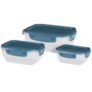 Kép 2/3 - 3 db-os mikrózható műanyag ételtároló doboz szett