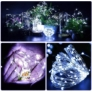 Kép 3/5 - 100 micro LED-es  elemes  dekor fényfüzér, hideg fehér, 5 m