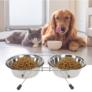 Kép 1/4 - Dupla eledel és ivótál kutyáknak és macskáknak, 34 cm, rozsdamentes acél