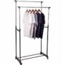 Kép 5/6 - Gurulós dupla fém ruhaállvány, ruhatartó állvány állítható magassággal 160 cm-ig