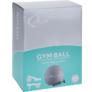 Kép 4/4 - QLife Yoga fitneszlabda, gimnasztikai labda pumpával, 65 cm, zöldes-kék